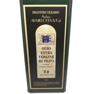 """1 Latta """"Coratina"""" lt. 5 Olio Extravergine 100% Italiano"""